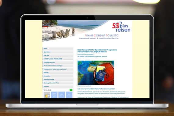 Website für 50plus-Reisen