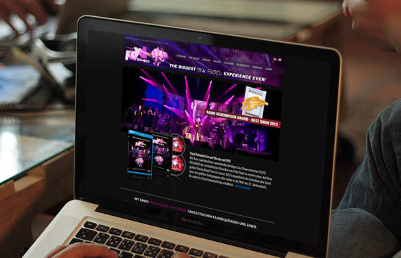 website relaunch von Floyd Reloaded